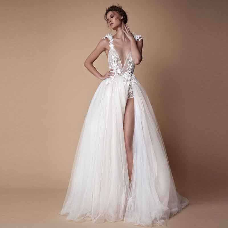 Chic Long Evening Gowns V Neck Tulle A Line Pageant Dresses 2019 robe de soiree Evening