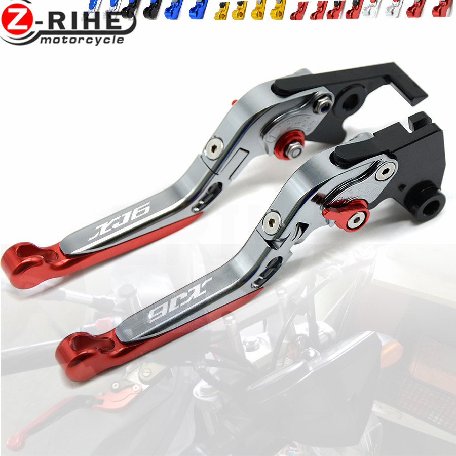 CNC Aluminum LOGO XJ6 For YAMAHA XJ6 DIVERSION 2009-2015 Motorcycle Accessories Folding Extendable Brake Clutch Levers motorcycle adjustable cnc aluminum brakes clutch levers set motorbike brake for yamaha fz1 fazer 2006 2013 xj6 diversion 09 15