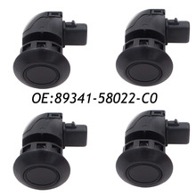 4PCS 89341-58022-C0 PDC Left & Rear Parking Assist Sensor For Toyota Alphard 2005-2008 89341-58022 Black