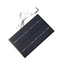 USB GÜNEŞ PANELI açık 5W 5V taşınabilir güneş enerjisi şarj cihazı paneli tırmanma hızlı şarj Polysilicon Tablet güneş seyahat