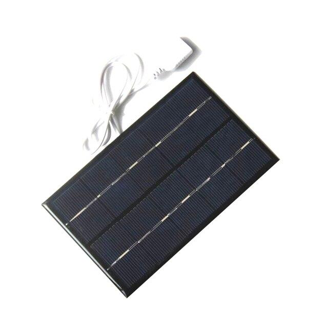 USB del Pannello Solare Esterno 5 W 5 V Caricatore Solare Portatile Riquadro Arrampicata Veloce Caricatore Tablet Viaggi Solare di Silicio Policristallino