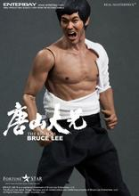 ENTERBAY 1/6 doll Model.12″ Action figure doll,Bruce Lee in The Big Boss with tow head .Collection Model toy