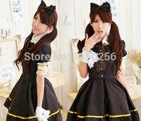 Classic Japan Black And White Sweet Love Lolita Maid Dress Sexy Girl Kawaii Anime Cosplay Costume