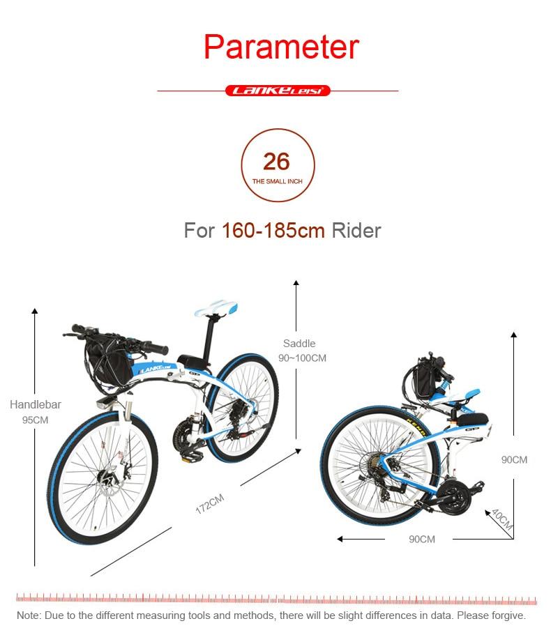 HTB1VKQ8czgy uJjSZKbq6xXkXXab - Lankeleisi GP Electrical Bicycle, Folding Bike, 26 inches, 36/48V, 240W, Disc Brake, Quick-folding, Mountain Bike