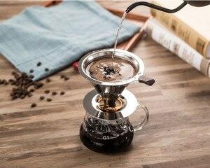 Image 4 - Yeniden kullanılabilir kahve filtresi tutucu yıkanabilir paslanmaz çelik demlemek damla kahve filtreleri Espresso manuel kahve çekirdeği değirmeni