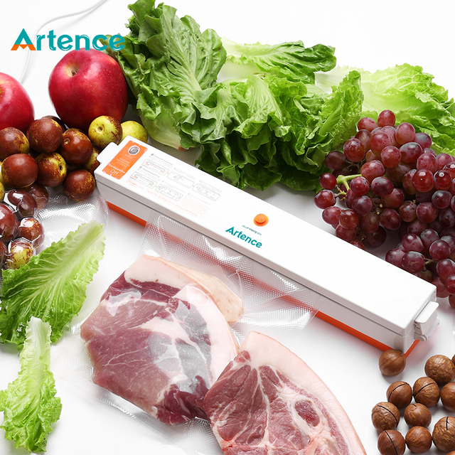 Home Full Automatic Food Vacuum Sealer Household Packing Machine 15pcs Bags Free Provided