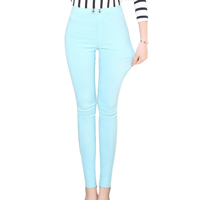 Fashion Candy Color Pencil Pants Skinny Nine Female Super Elastic Leggings 2016 New Summer Casual Fitness Women Leggins
