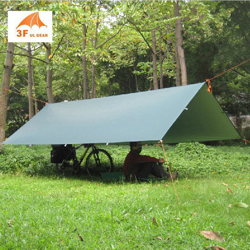3*3m 210T with silver coating 3F UL GEAR outdoor tarp sun shelter high quality beach awning3*3m 210T with silver coating 3F UL GEAR outdoor tarp sun shelter high quality beach awning