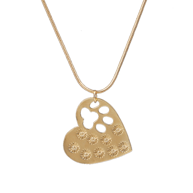 Pet Memorial  Jewelry My Dog Rescued Me Engraved Pet Paw Prints 2