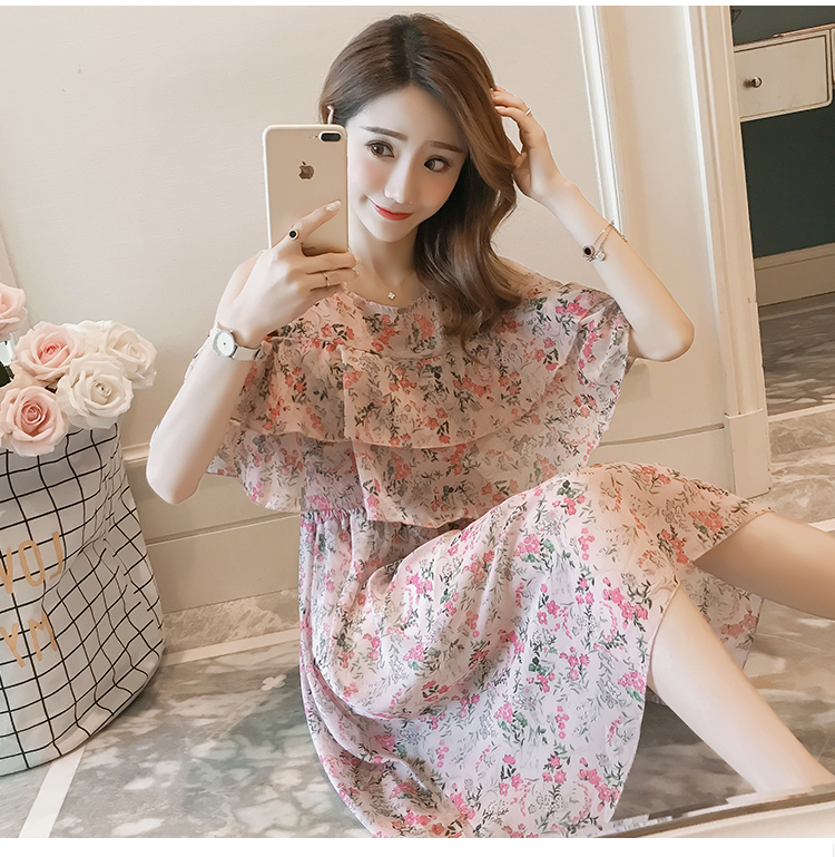 Pregnant Nursing Dress Off Shoulder print Maternity Breastfeeding Dresses For Photo Shoot Chiffon Maternity Dress Party Clothes 70