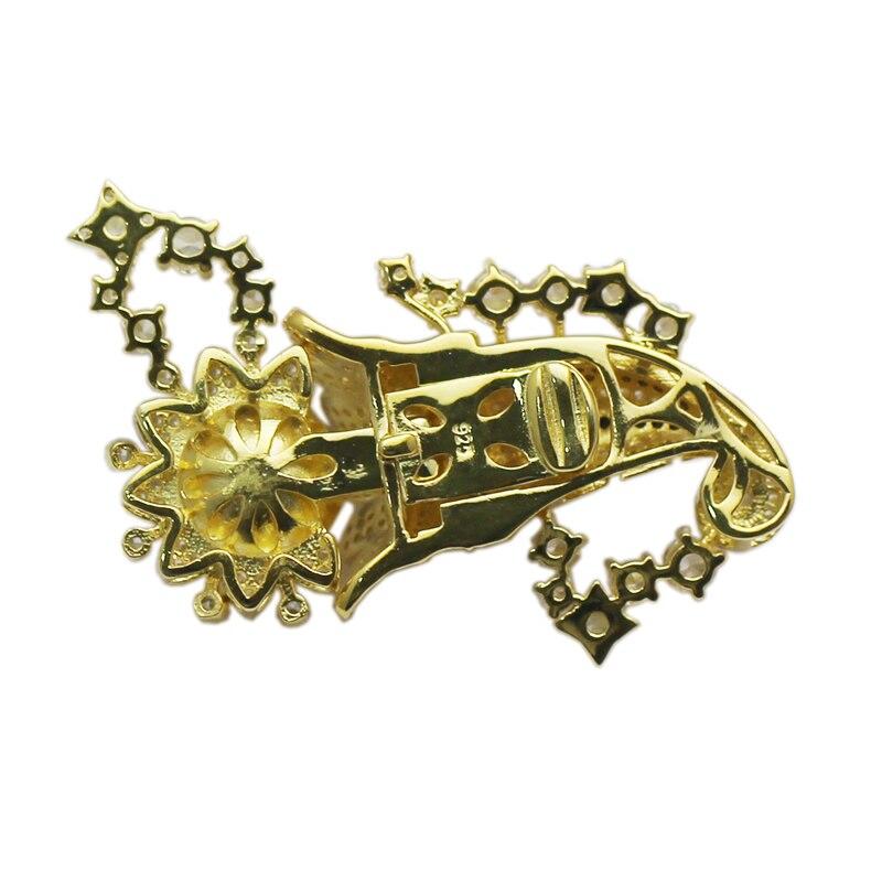 Beadsnice 925 collier en argent Sterling fermoir réglage CZ Pave grande boîte fermoir bijoux résultats fournitures bricolage cadeau ID35288 - 4
