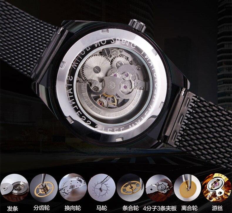 Fashion Brand Дизайнер Ерлер Skeleton Automatic Watches - Ерлердің сағаттары - фото 5