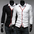 2014 sweater men,different color placket mens sweaters. business and leisure Men's skinny cardigan sweaters.free shipping