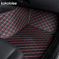 kokololee Auto car floor Foot mat For pajero sport 4 grandis lancer outlander xl 2017 2013 car accessories waterproof carpet