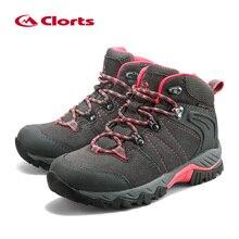 Clorts Для женщин Пеший Туризм обувь Водонепроницаемый Пеший Туризм Сапоги Нескользящие на открытом воздухе горные ботинки замшевые скальные туфли HKM-822B/C /E/F