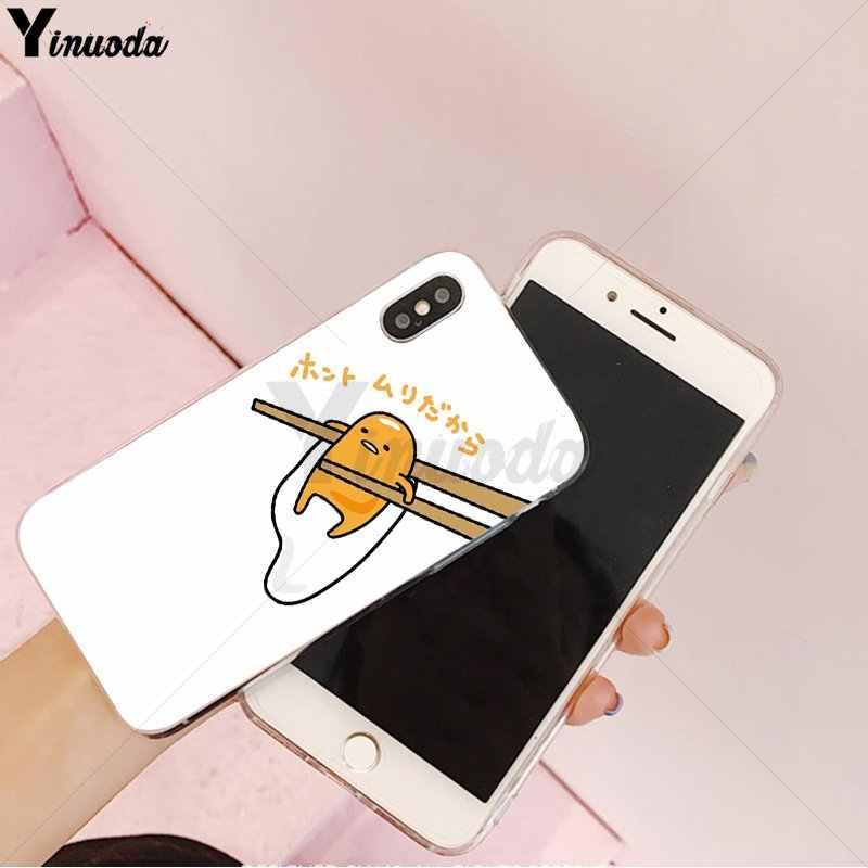 Yinuoda חמוד יפה gudetama עצלן ביצה חדש הגיע מקרה טלפון סלולרי עבור Apple iPhone 8 7 6 6S בתוספת X XS מקסימום 5 5S SE XR כיסוי