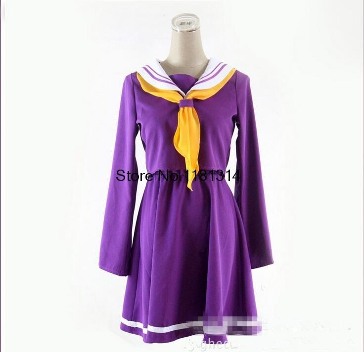 COSPLAY No Game No Life NGNL Shiro Japanese School Girls Uniform Cosplay Costume S-XL