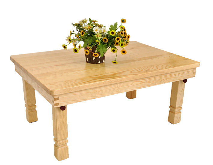 Rectangle Modern Korean Folding Table Natural Finish 3 Sizes Living Room Furniture Floor Tea Table For
