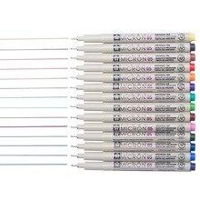 12 canetas de tinta da precisão dos pces, pena fina da linha do mícron do pigma, forro, multiliner, ilustração do artista, esboçar, desenho técnico