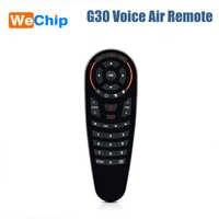 Mini Keyboard G30 Wireless Gryo Voice Air Remote 33 Keys IR Learning For Smart TV PC TV Box Mobile Phone 2.4G wifi