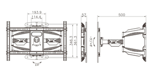 Image 4 - NB 767 L600 Similar P6 40 70 inch Flat Panel LED LCD TV Wall Mount Full Motion 6 Swing Arms Retractable Plasma TV Mount Bracket