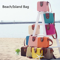 Hot Summer Candy Colors Women Shoulder Bag Hand Made Exquisiteness Straw Bags Mini Woven Flap Sweet