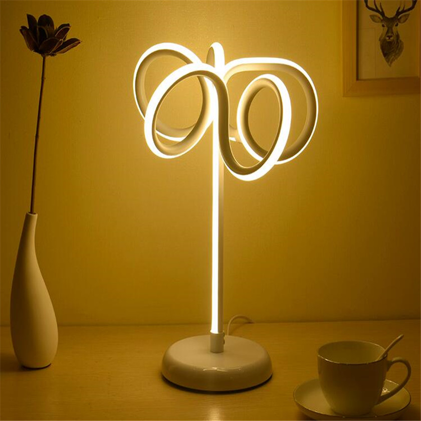 24W Dimming LED Desk Lamp Novelty Table Light Bedside Book Lighting Table Luminaire EU/US plug For Home Decor Living Bedroom novelty magnetic floating lighting bulb night light wood color base led lamp home decoration for living room bedroom desk lamp