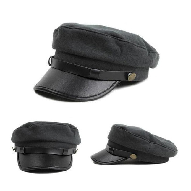 e494dfe63b361 US $8.58 |Retail NEW baseball cap for women men Cadet Cap male Retro hat  Leather brim casual Female Hat B003-in Baseball Caps from Apparel  Accessories ...