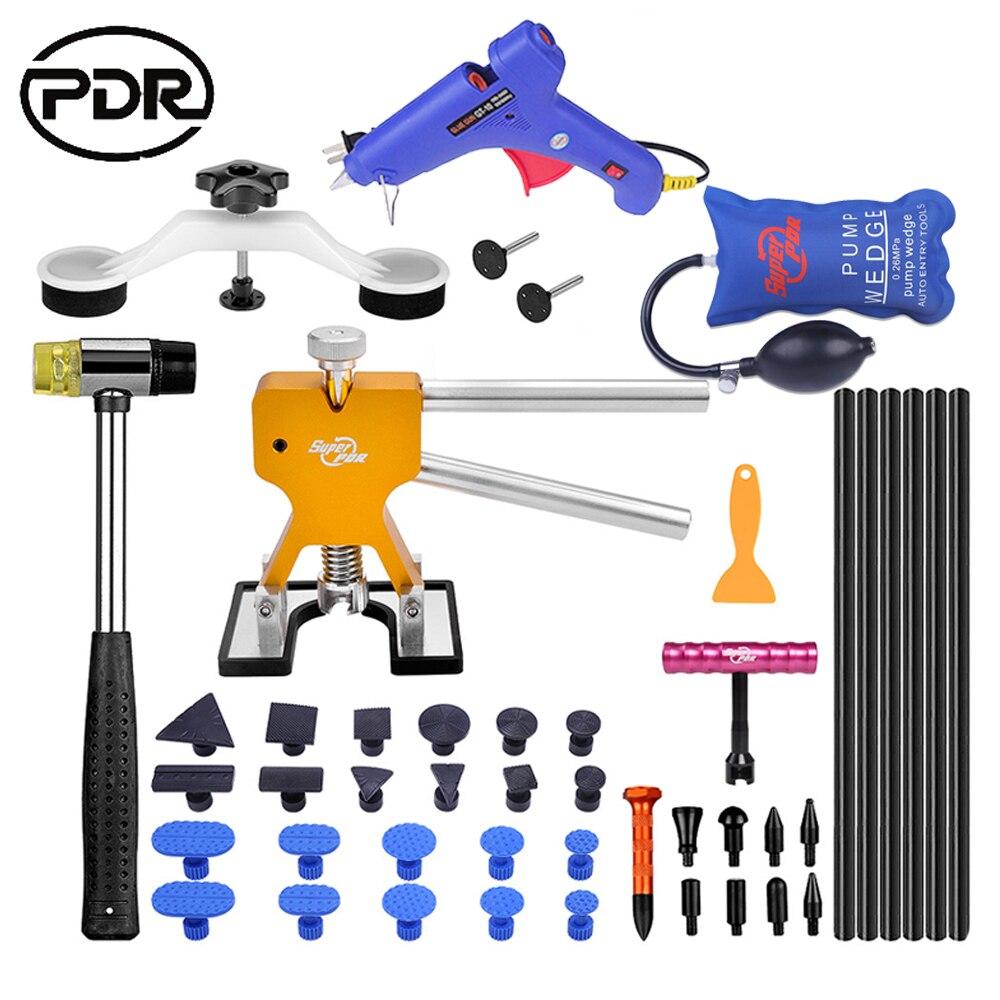 Ferramentas de PDR Paintless Dent Kit Ferramenta de Reparo Do Carro de Remoção de Remoção de Dentes Ferramentas de Auto Extrator Dent Lifter Puxando Ponte Ventosas