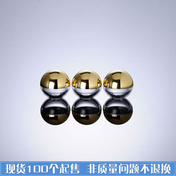 Capacity 5g 100pcs/ lot Golden spherical tank, no inner cover pot small sample in the cosmetics packaging, plastic mini cans