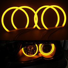 4 шт. 131 мм Хлопок ангельские глазки галогенное кольцо галогенная для BMW E36/E38/E39/E46 проектор желтый оранжевого и белого цветов в стиле хип