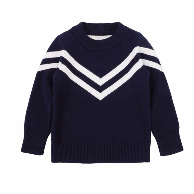 Baby Girls Boys Long Sleeve Sweater Stripe Pattern Shirts 2-6 Years