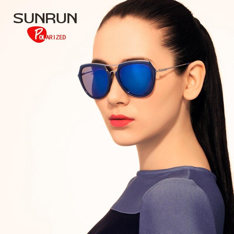 SUNRUN font b Fashion b font font b Polarized b font Sunglasses Women Brand Designer TR90