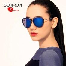SUNRUN Fashion Polarized Sunglasses Women Brand Designer TR90 Frame Sun Glasses UV400 Vintage Eyewear TR6033