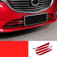 For Mazda 6 M6 Atenza 2017 2018 ABS Chrome Front Grille Grill Cover Trim Center Hood Mesh Net Garnish Molding Styling 4pcs