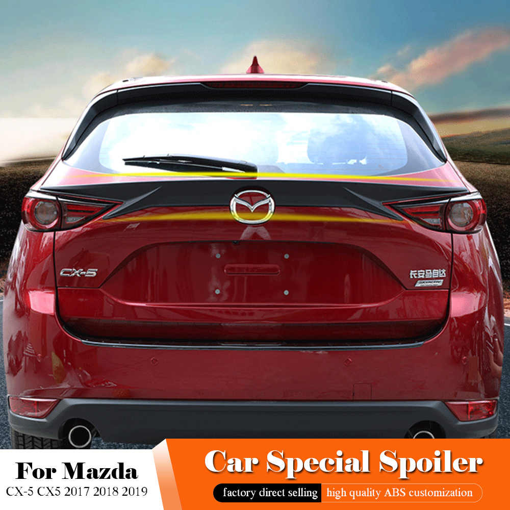 2017 Mazda Cx 5 Colors >> For Mazda Cx 5 Cx5 2017 2018 2019 Rear Middle Black Spoiler Abs Plastic Painted Color Trunk Lip Wing White Spoiler Car Styling