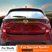 For Mazda CX 5 CX5 2017 2018 2019 Rear Middle Black Spoiler ABS Plastic Painted Color Trunk Lip Wing White Spoiler Car Styling