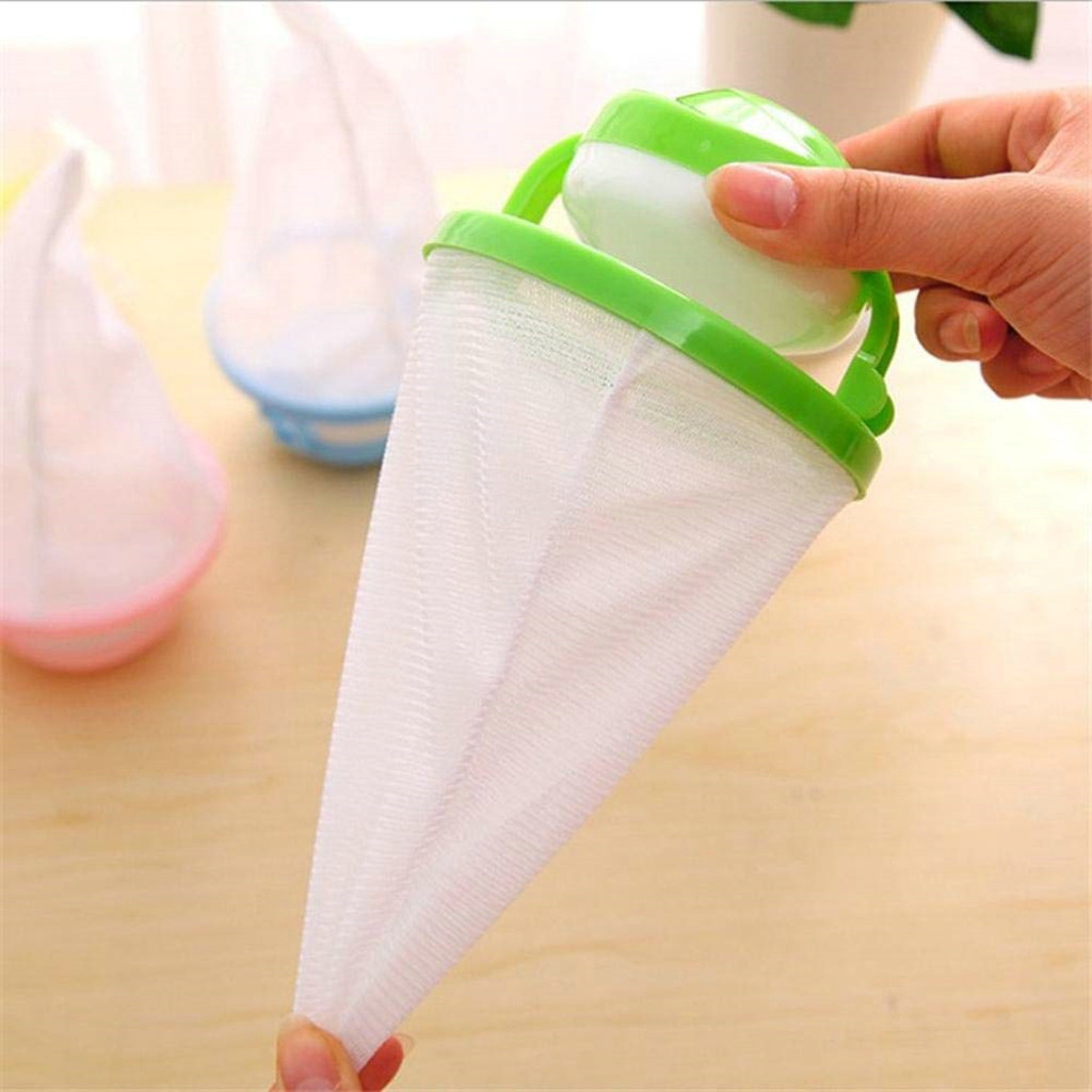 2PC Floating Pet Fur Catcher Filtering Hair Removal Device Wool Cleaning Supplies Washer Style Laundry Cleaning Mesh Bag 5.23