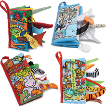 hot  Baby Toy Cloth Development Books Learning & Education Unfolding books Animal Tails cloth book Activity Book 10 pages