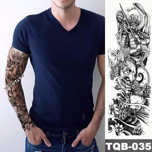 34e69dcb0 New 1 Piece Temporary Tattoo Sticker warrior landscape battle style Tattoo  Arm Body Art Big Sleeve