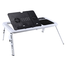 ФОТО laptop desk foldable table e-table bed usb cooling fans stand tv tray