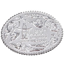 Custom Logo Metal Mens Souvenir Belt Buckle Cheap Low Price Silver