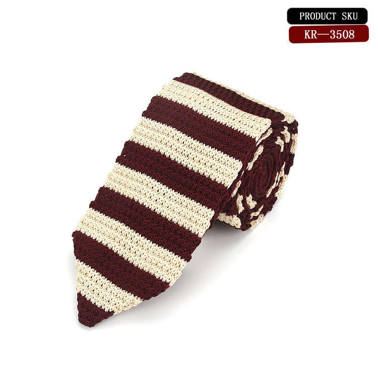 New 2018 Fashion Male Brand Slim Designer Knitted Neck Ties Cravate Narrow