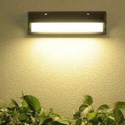 Thrisdar 18W 30W radarowy czujnik ruchu wodoodporna lampa ścienna LED ogrodowa ściana balkonowa willa frontowe drzwi światło werandy