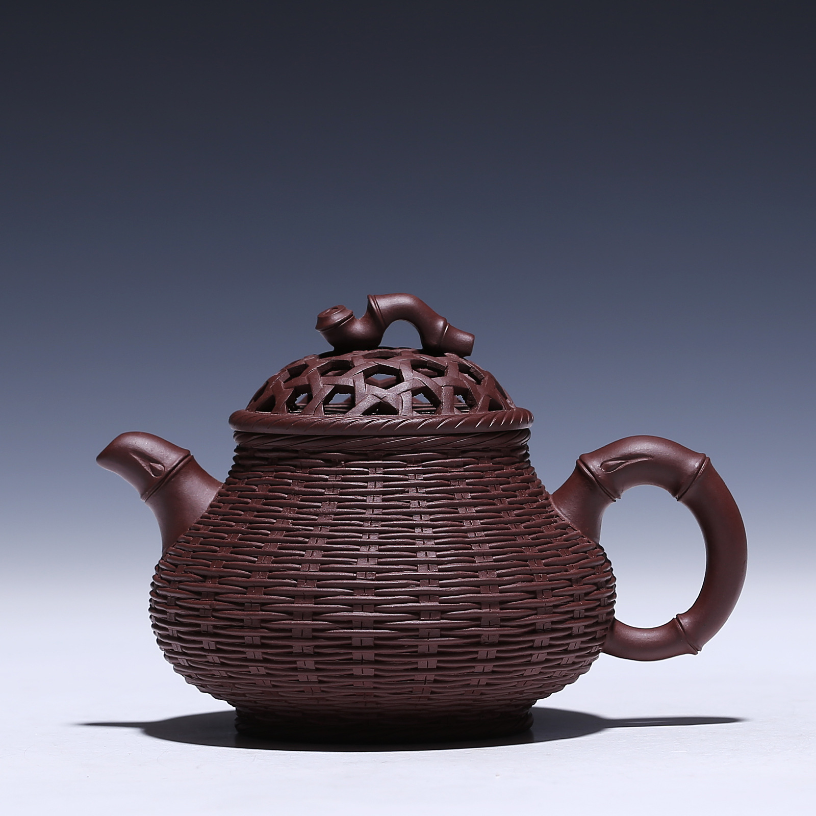Bamboo Pot 300cc Authentic Yixing Teapot Genuine HandBamboo Pot 300cc Authentic Yixing Teapot Genuine Hand