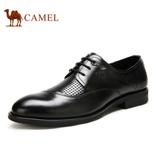 For for men's camel 2016 cutout summer comfortable breathable cowhide business formal male leather shoes business dress shoes