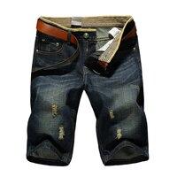Cheap Wholesale Large Size 2017 Summer Mens Casual Fashion Brand Jeans Shorts Hole Denim Shorts Men