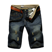 Cheap Wholesale,  Large Size 2017 Summer Mens Casual Fashion Brand Jeans Shorts ,Hole Denim Shorts Men 40 42 44