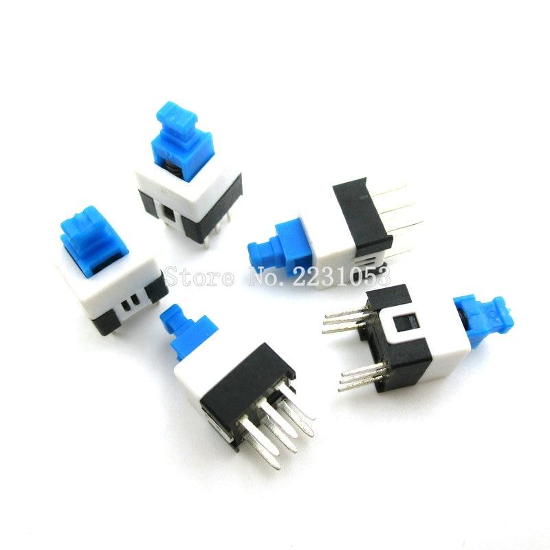 20pcs 7*7mm PCB 6 Pin Push Tactile Power Micro Switch Self Lock On//Off Pip
