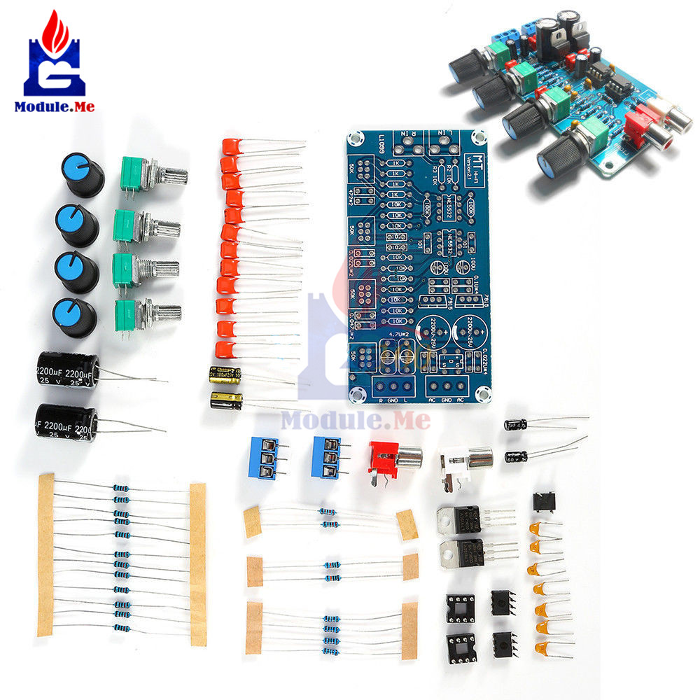 NE5532 Filter Power Supply HIFI Amplifier Volume Tone Control Board Pre Amplifier Drive Module Full Bridge Rectifier DIY Kit 12VNE5532 Filter Power Supply HIFI Amplifier Volume Tone Control Board Pre Amplifier Drive Module Full Bridge Rectifier DIY Kit 12V